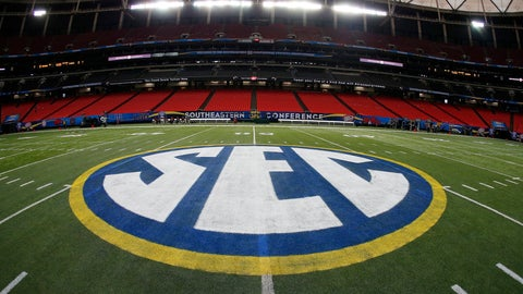 <p>               FILE - In this Dec. 5, 2014, file photo, the SEC logo is displayed on the field ahead of the Southeastern Conference championship football game between Alabama and Missouri in Atlanta. The Southeastern Conference will play only league games in 2020 to deal with potential COVID-19 disruptions, a decision that pushes major college football closer to a siloed regular season in which none of the power conferences cross paths(AP Photo/John Bazemore, File)             </p>