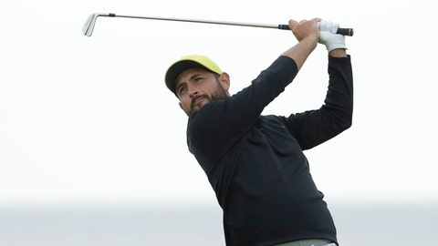 <p>               FILE - In this file photo dated Thursday, July 18, 2019, Alexander Levy of France hist his tee shot on the 6th during the first round of the British Open Golf Championships at Royal Portrush in Northern Ireland.  Levy became the first golfer to test positive Thursday, Aug. 13, 2020 for the coronavirus at a European Tour event and was one of two French players withdrawn on the opening day of the Celtic Classic. (AP Photo/Matt Dunham, FILE)             </p>
