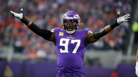 <p>               File-Minnesota Vikings defensive end Everson Griffen celebrates a sack during the first half of an NFL football game against the Denver Broncos, Sunday, Nov. 17, 2019, in Minneapolis. The Dallas Cowboys have agreed to a contract with longtime Minnesota defensive end Everson Griffen, a person with knowledge of the deal said Wednesday, Aug. 12, 2020. Griffen is the latest addition of a pass rusher with a pedigree for the Cowboys, who signed former San Francisco end Aldon Smith during the offseason.  (AP Photo/Bruce Kluckhohn, File)             </p>