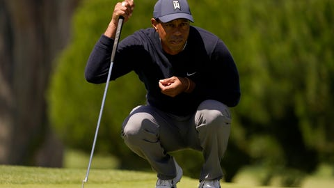 <p>               Tiger Woods lines up a putt on the third hole during the second round of the PGA Championship golf tournament at TPC Harding Park Friday, Aug. 7, 2020, in San Francisco. (AP Photo/Jeff Chiu)             </p>