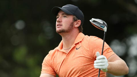 <p>               Sam Horsfield of England watches his tee shot during day two of the Celtic Classic at Celtic Manor Resort, Newport, Wales, Friday Aug. 14, 2020. (David Davies/PA via AP)             </p>