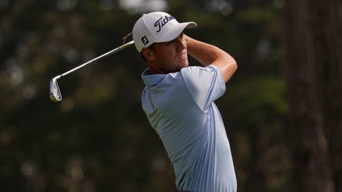 <p>               Justin Thomas watches his tee shot on the eighth hole during the second round of the PGA Championship golf tournament at TPC Harding Park Friday, Aug. 7, 2020, in San Francisco. (AP Photo/Jeff Chiu)             </p>