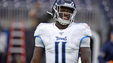<p>               FILE - In this Dec. 29, 2019, file photo, Tennessee Titans' A.J. Brown (11) warms up before an NFL football game against the Houston Texans in Houston. Titans wide receiver A.J. Brown led all rookies in receiving yards despite working with quarterback Ryan Tannehill for only 10 games. Now Brown is going into his second season ready to show what he can do with a full 16-game schedule as Tennessee's top receiver. (AP Photo/Eric Christian Smith, File)             </p>