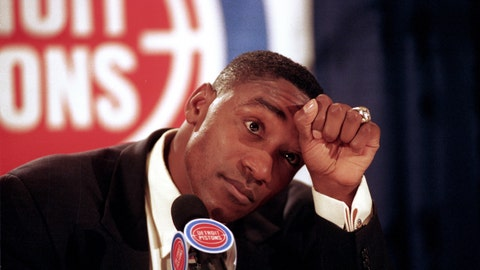<p>               FILE - In this May 11, 1994, file photo, Detroit Pistons guard Isiah Thomas announces his retirement from basketball at the Palace of Auburn Hills, Mich. Thomas' Olympic hopes were denied, not once but twice. Thomas was famously left off the U.S. Olympic team — the first Dream Team — that won a gold medal at the 1992 Barcelona Olympics with ease. But he could have been an Olympian 12 years earlier, had the Americans not boycotted the 1980 Moscow Games. (AP Photo/Richard Sheinwald, File)             </p>