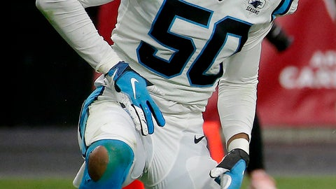 <p>               FILE - In this Sept. 22, 2019, file photo, Carolina Panthers linebacker Christian Miller (50) reacts after sacking Arizona Cardinals quarterback Kyler Murray during the second half of an NFL football game in Glendale, Ariz. Miller has informed the team he has opted out of the 2020 season. Miller, a fourth-round pick in 2019 out of Alabama, played in seven games last year. (AP Photo/Rick Scuteri, FIle)             </p>