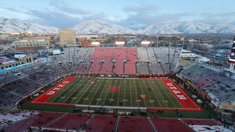 <p>               FILE - Rice-Eccles Stadium is shown before the start of an NCAA college football game between Colorado and Utah Saturday, Nov. 30, 2019, in Salt Lake City. Losing college football stings across America. While every aspect of society has been jarred by a worldwide pandemic that has claimed more than 160,000 American lives, the potential loss of college football feels like another collective punch to the national psyche. (AP Photo/Rick Bowmer, File)             </p>