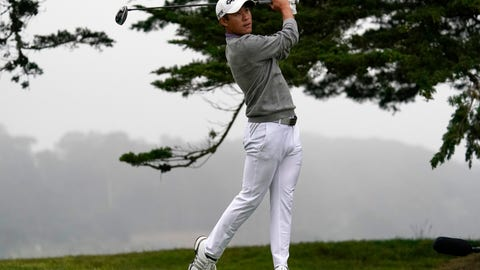 <p>               Collin Morikawa watches his tee shot on the 16th hole during the final round of the PGA Championship golf tournament at TPC Harding Park Sunday, Aug. 9, 2020, in San Francisco. (AP Photo/Jeff Chiu)             </p>