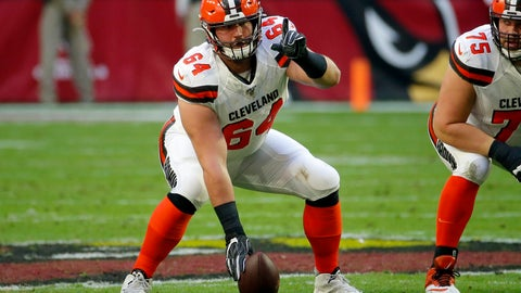 <p>               FILE - In this Dec. 15, 2019, file photo, Cleveland Browns center JC Tretter (64) lines up against the Arizona Cardinals during the first half of an NFL football game in Glendale, Ariz. The Browns center and NFLPA president says he will push for daily testing for the coronavirus as the NFL ramps up to a possible season. (AP Photo/Rick Scuteri, File)             </p>