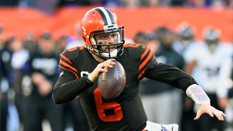 <p>               FILE - In this Dec. 22, 2019, file photo, Cleveland Browns quarterback Baker Mayfield scrambles during the second half of an NFL football game against the Baltimore Ravens in Cleveland. Looking back, Browns rookie coach Kevin Stefanski is now thrilled he decided to take a trip to Texas in March to visit Baker Mayfield. During a Zoom conference call on Friday, Aug. 7, 2020, Stefanski revealed that he went to Austin and spent time with Mayfield. (AP Photo/David Richard, File)             </p>