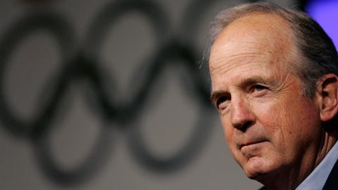 <p>               FILE - In this in this April 15, 2008 file photo, U.S. Olympic Committee Chairman Peter Ueberroth takes questions during the 2008 U.S. Olympic Team Media Summit in Chicago. Ueberroth vision laid the foundation for what the Olympic Games have become today.  (AP Photo/M. Spencer Green, File)             </p>