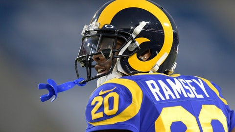 <p>               FILE - In this Dec. 8, 2019, file photo, Los Angeles Rams cornerback Jalen Ramsey watches during an NFL football game against the Seattle Seahawks in Los Angeles. Ramsey remains confident he will sign a new contract with the Rams as he heads into the final season of his rookie deal.  (AP Photo/Kyusung Gong, File)             </p>