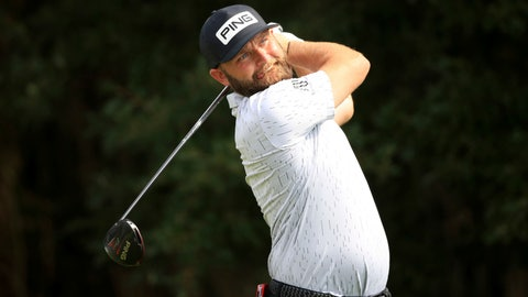 <p>               England's Andy Sullivan in action during day three of the English Championship at Hanbury Manor Marriott Hotel and Country Club, Ware, England, Saturday Aug. 8, 2020. (Adam Davy/PA via AP)             </p>