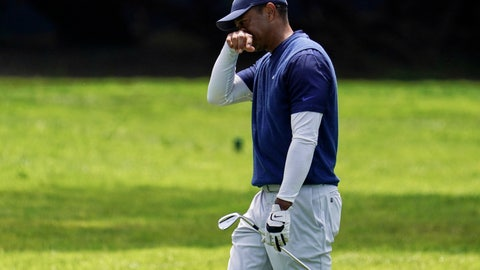 <p>               Tiger Woods walks to the 12th green during the third round of the PGA Championship golf tournament at TPC Harding Park Saturday, Aug. 8, 2020, in San Francisco. (AP Photo/Jeff Chiu)             </p>