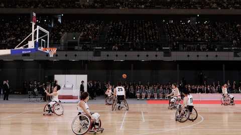 <p>               FILE - In this Feb. 2, 2020, file photo, members of Japan's national wheelchair basketball team warm up on the court during a grand opening ceremony of the Ariake Arena, a venue for volleyball at the Tokyo 2020 Olympics and wheelchair basketball during the Paralympic Games, in Tokyo. The Tokyo 2020 Paralympic schedule remains essentially unchanged for the event postponed until next year, organizers said on Monday, Aug. 3, 2020. Tokyo organizers made the same announcement several weeks ago for the postponed Olympics. The Paralympics open on Aug. 24, 2021, and close on Sept. 5. The Olympics are to open on July 23. (AP Photo/Jae C. Hong, File)             </p>