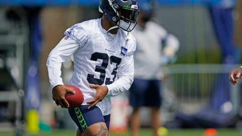 <p>               Seattle Seahawks safety Jamal Adams holds the football during a practice drill at NFL football training camp, Wednesday, Aug. 12, 2020, in Renton, Wash. (AP Photo/Ted S. Warren, Pool)             </p>