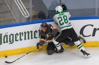 Dallas takes lead in 2nd period, falls to Vegas 5-3