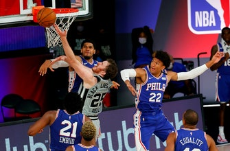 Spurs stay close, 76ers pull away 132-130