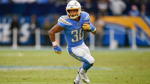 <p>               FILE - In this Dec. 22, 2019, file photo, Los Angeles Chargers running back Austin Ekeler runs against the Oakland Raiders during the second half of an NFL football game in Carson, Calif. Ekeler could be the one player who benefits the most from the Los Angeles Chargers changes on offense. (AP Photo/Kelvin Kuo, File)             </p>