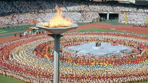 <p>               FILE - In this Sept. 17, 1988, file photo, the Olympic cauldron towers above the Olympic stadium in Seoul, South Korea, during the opening ceremonies for the summer Olympic Games. (AP Photo/Mark Duncan, File)             </p>
