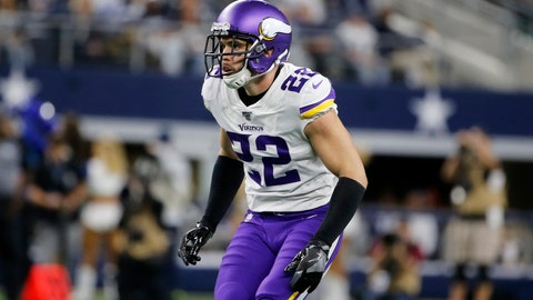 <p>               FILE - In this Nov. 1, 2019, file photo, Minnesota Vikings free safety Harrison Smith (22) defends against the Dallas Cowboys during an NFL football game in Arlington, Texas. No team in the NFC is spending more salary cap space on safeties than the Minnesota Vikings, who will be counting on Harrison Smith and Anthony Harris to support a secondary in transition after the departure of their top three cornerbacks from last season. (AP Photo/Michael Ainsworth, File)             </p>