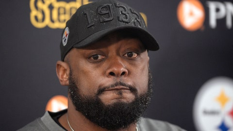 <p>               FILE - In this Dec. 29, 2019, file photo, Pittsburgh Steelers head coach Mike Tomlin speaks to reporters after an NFL football game against the Baltimore Ravens in Baltimore.  While Steelers head coach Mike Tomlin is encouraged by the fact no players have opted out of the 2020 season, he's also wary the season will be able to go without interruption amid the COVID-19 pandemic. (AP Photo/Nick Wass, File)             </p>