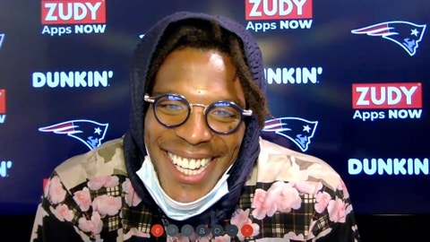 <p>               In this still image from a Webex media availability hosted by the New England Patriots, quarterback Cam Newton responds to a question, Friday, Aug. 7, 2020, in Foxborough, Mass. (New England Patriots via AP)             </p>