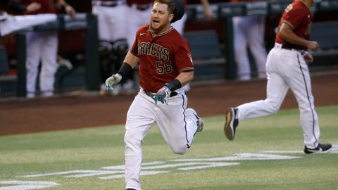 <p>               Arizona Diamondbacks' Kole Calhoun (56) rounds the bases after hitting an inside-the-park two-run home run during the fourth inning of a baseball game against the Houston Astros Wednesday, Aug. 5, 2020, in Phoenix. (AP Photo/Matt York)             </p>