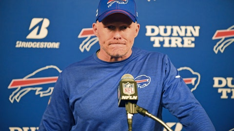 <p>               FILE - Buffalo Bills head coach Sean McDermott listens to a question after an NFL wild-card playoff football game against the Houston Texans Saturday, Jan. 4, 2020, in Houston. The Bills have signed coach McDermott to a multi-year contract extension. A person with direct knowledge told the Associated Press the contract is a four-year extension that runs through the 2025 season. The person spoke on the condition of anonymity because the Bills have not released that information. McDermott had two years remaining on his original deal. (AP Photo/Eric Christian Smith, file)             </p>
