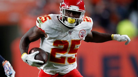 <p>               FILE - In this Oct. 17, 2019, file photo, Kansas City Chiefs running back LeSean McCoy (25) carries the ball during the first half of an NFL football game against the Denver Broncos in Denver. The six-time Pro Bowl running back has finalized a one-year contract with the Tampa Bay Buccaneers. With the signing, the Bucs add another offensive playmaker to help Tom Brady with his new team. (AP Photo/David Zalubowski, File)             </p>