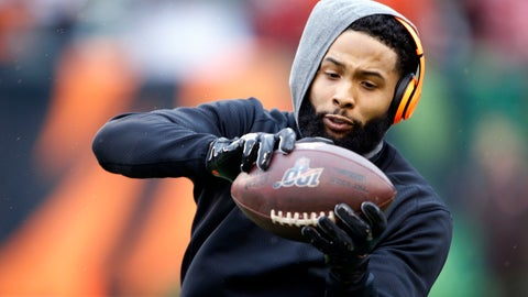 <p>               FILE - In this Dec. 29, 2019, file photo, Cleveland Browns wide receiver Odell Beckham Jr. catches a pass before an NFL football game against the Cincinnati Bengals in Cincinnati. Cleveland general manager Andrew Berry said Tuesday that Beckham has been fully committed to reporting to the team's facility. (AP Photo/Gary Landers, File)             </p>