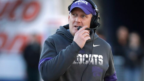 """<p>               FILE - In this Dec. 31, 2019, file photo, Kansas State coach Chris Klieman watches from the sideline during the first half of the team's Liberty Bowl NCAA college football game against Navy in Memphis, Tenn. The Big Ten and Pac-12 became the first Power Five conferences to cancel their fall football seasons because of concerns about COVID-19. The announcements left the Atlantic Coast Conference, the Southeastern Conference and the Big 12 as thePower Five conferences still intending to play in the fall, and left Klieman clinging to hope. """"I hope they don't totally lose a season,"""" he said of his players. (AP Photo/Mark Humphrey, File)             </p>"""