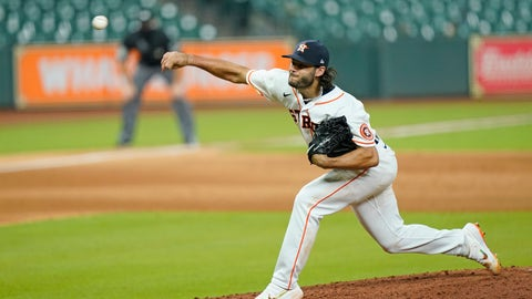 <p>               Houston Astros starting pitcher Lance McCullers Jr. throws against the San Francisco Giants during the fifth inning of a baseball game Monday, Aug. 10, 2020, in Houston. (AP Photo/David J. Phillip)             </p>