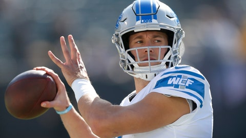<p>               FILE - In this Nov. 3, 2019, file photo, Detroit Lions quarterback Matthew Stafford warms up before an NFL football game against the Oakland Raiders in Oakland, Calif. Since the start of last year, Matthew Stafford has had to deal with a health scare involving his wife, his own injury problems -- and more recently, a coronavirus test that the team later described as a false positive. It's been a difficult period for the Detroit star. (AP Photo/D. Ross Cameron, File)             </p>