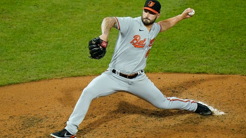 <p>               Baltimore Orioles' Tanner Scott pitches during the sixth inning of a baseball game against the Philadelphia Phillies, Tuesday, Aug. 11, 2020, in Philadelphia. (AP Photo/Matt Slocum)             </p>