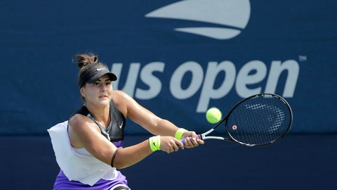 <p>               FILE - In this Aug, 27, 2019, file photo, Bianca Andreescu, of Canada, returns a shot to Katie Volynets, of the United States, during the first round of the US Open tennis tournament in New York. Reigning U.S. Open champion Bianca Andreescu pulled out of the Grand Slam tournament Thursday, Aug. 13, 2020, saying the coronavirus pandemic prevented her from properly preparing for competition. (AP Photo/Frank Franklin II, File)             </p>