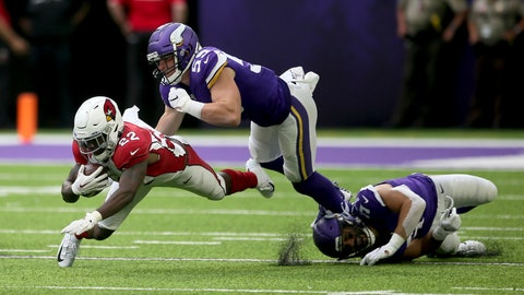 <p>               FILE - In this Aug. 24, 2019, file photo, Arizona Cardinals running back T.J. Logan (22) runs from Minnesota Vikings linebacker Cameron Smith (59) during the second half of an NFL preseason football game in Minneapolis. Smith will miss the 2020 season because of a heart condition. It was discovered after he tested positive for COVID-19 upon reporting to training camp two weeks ago. The Vikings made the procedural move on Monday, Aug. 10, 2020, of waiving Smith with a non-football injury designation. (AP Photo/Jim Mone, File)             </p>