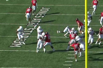Jahdae Barron scoop and score after Tyler Owens blocks Texas Tech punt, Longhorns lead 38-28