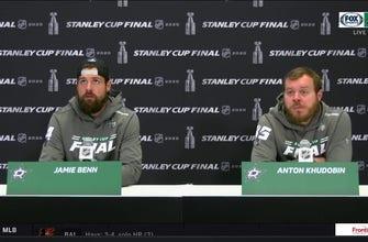 Jamie Benn and Anton Khudobin on the Stars Game 3 Loss to the Lightning