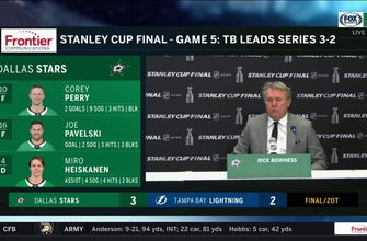 Rick Bowness talks Dallas' Game 5 Double-Overtime Win against Tampa Bay