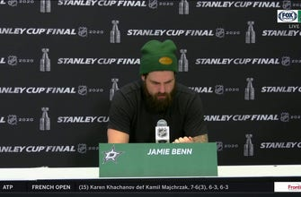 An Emotional Jamie Benn after the Stars Lose in Game 6 to the Lightning