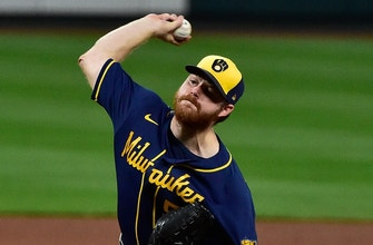 Brandon Woodruff fans 10 batters in eight innings as Brewers shut out Cardinals, 3-0