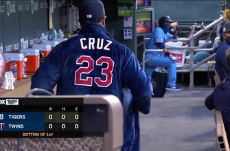 WATCH: Nelson Cruz sports robe in Twins dugout