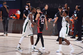 No Giannis, no problem: Bucks beat Heat in OT to avoid elimation