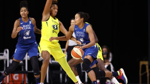 Lynx lose at buzzer in Game 1 of semifinal series vs. Storm