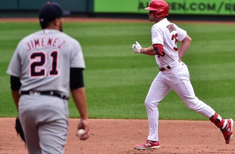 Cardinals rout Tigers 12-2 in Game 1 of doubleheader