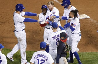 Cubs stroll off over Indians on consecutive HBPs thumbnail