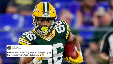 Malik Taylor, Packers wide receiver
