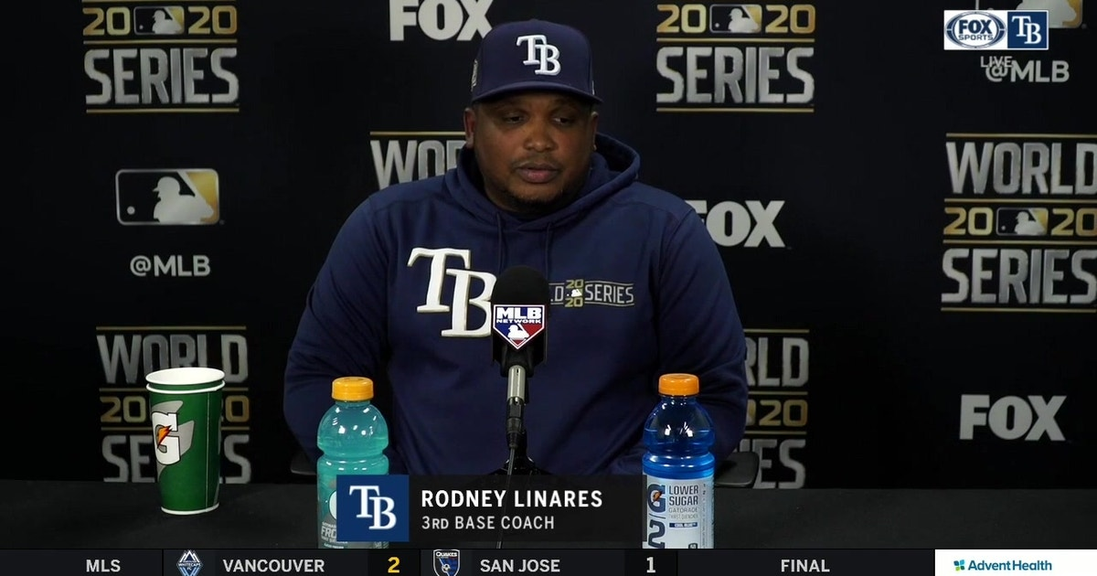 Rays 3B coach Rodney Linares breaks down the Rays' walk-off win