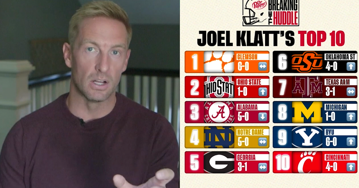 Cincinnati, Michigan join Joel Klatt's Top 10 | Breaking the Huddle with Joel Klatt