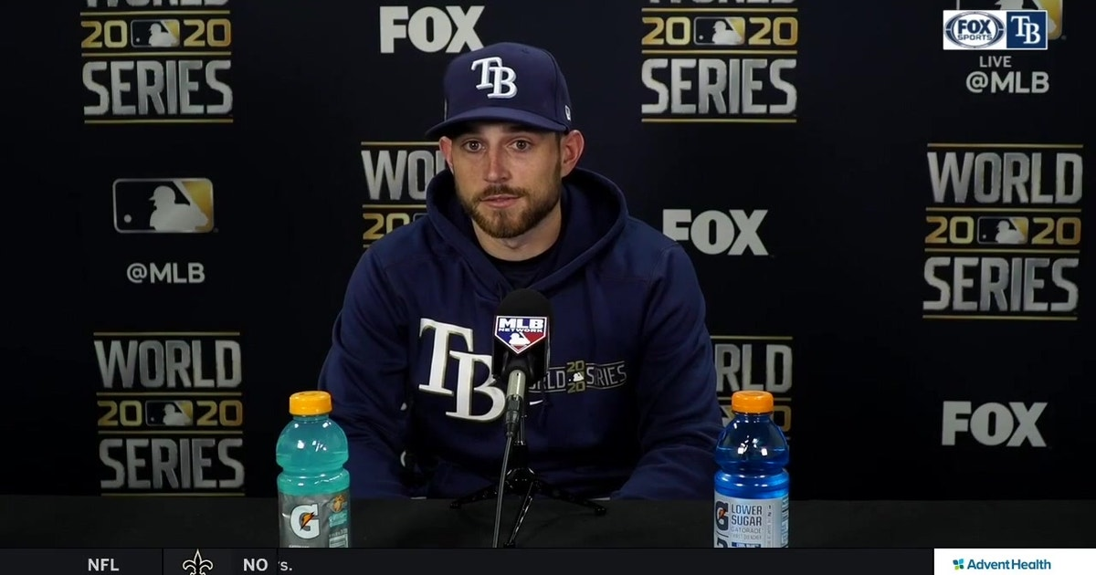 Brandon Lowe recaps his 2-home run night in Rays' World Series Game 2 win over Dodgers